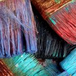 kleurige kwasten