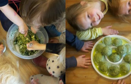 Monster groene vegan muffins