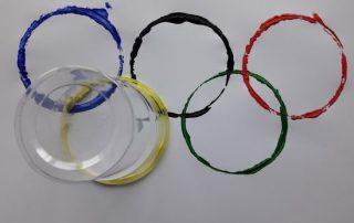 Spelen met de Olympische ringen
