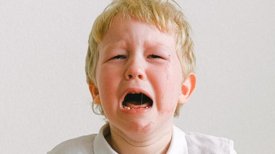huilende jongen
