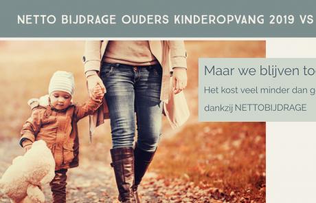 De kinderopvang is niet duur dankzij NETTOBIJDRAGE