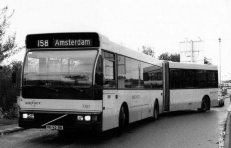 Buslijn 158 in het jaar 1989