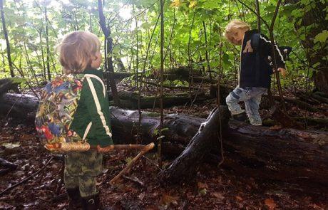 avontuurlijk spel in het bos